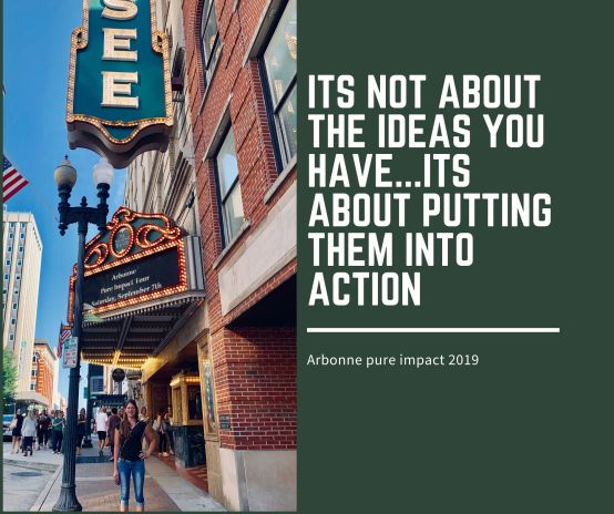 Its not about the ideas you have...its about putting them into action